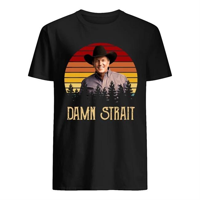 George Strait damn strait vintage sunset shirt