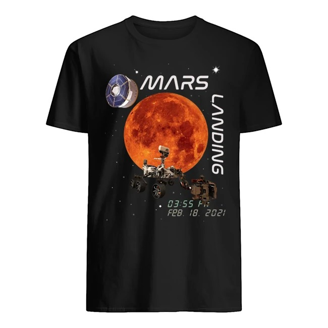 Mars landing Nasa shirt