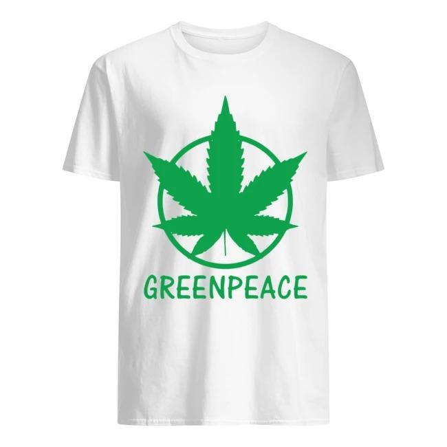 Cannabis green peace shirt
