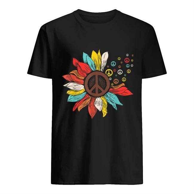 Sunflower Peace Sign Hippie Shirt