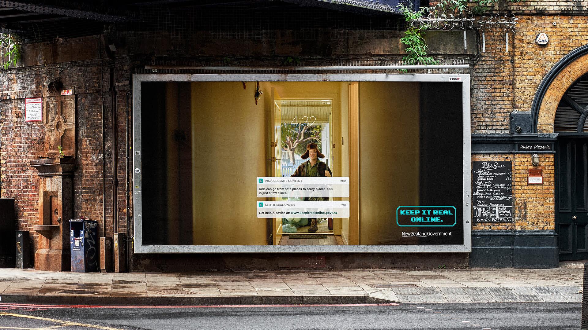 Keep it real online billboard