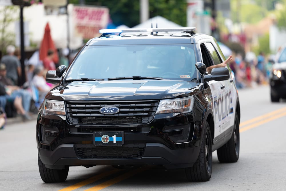Police Vehicles Part of Joint Ford Recall