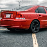 Red 2009 Volvo S60 in a parking lot