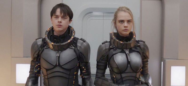 Dane DeHaan and Cara Delevigne in Valerian