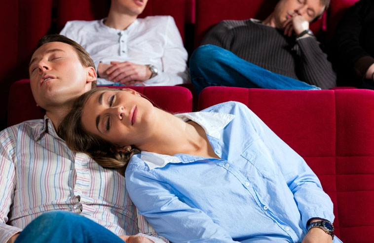 falling asleep during a movie