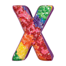 X Initial Microbead Pillow