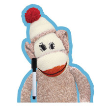 Sock Monkey Dry Erase Board