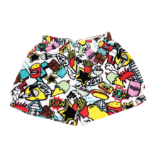 Pop Art Plush Shorts