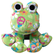 Flower Power Plush Frog Stuffed Animal