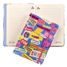 Candy Words Hardcover Journal