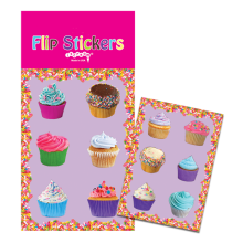 Lots of Cupcakes Flip Stickers
