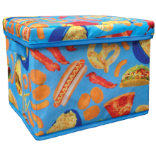 Junk Food Collapsible Storage Bin