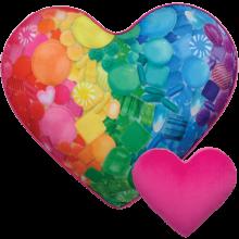 Sugar Heart Pillow