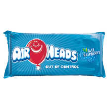 Airheads Metallic Blue Raspberry Microbead Pillow