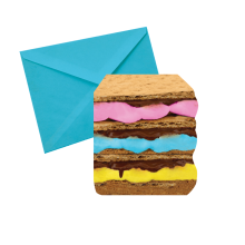 Stacked S'mores Notecards - Chocolate Scented