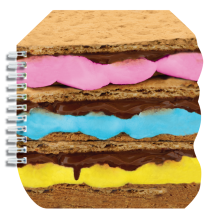 Stacked S'mores Notebook - Chocolate Scented