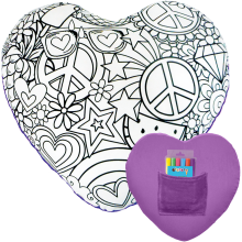 Heart Color Me Game Pillow