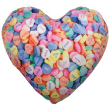 Conversation Heart Microbead Pillow