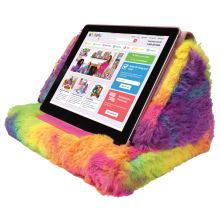 Tie Dye Furry Tablet Pillow