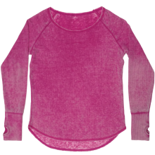 Berry Burnout Thermal Shirt