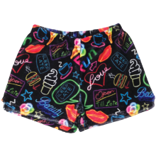 Neon Fun Plush Shorts