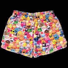 Picture of Emoji Collage Plush Shorts