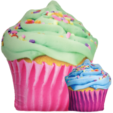 Celebration Cupcake Scented Microbead Pillow