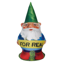 For Real Gnome Microbead Pillow