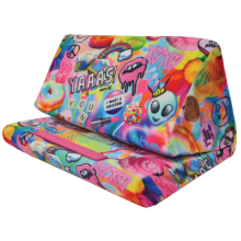 Psychedelic Collage Tablet Pillow