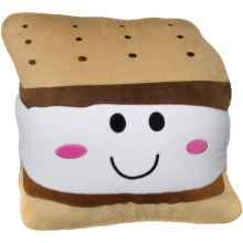 S'more Embroidered Pillow