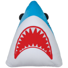Shark Fleece Embroidered Pillow
