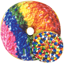 Rainbow Sprinkles Donut Scented Microbead Pillow