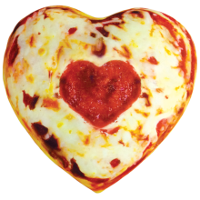 Heart Pizza Microbead Pillow