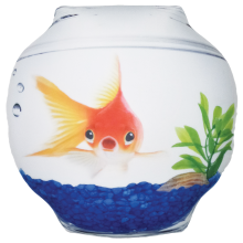 Goldfish Bowl Microbead Pillow