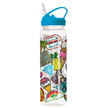 Embroidered Patches Water Bottle