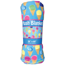 Water Color Cones Plush Blanket