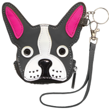 Black French Bulldog Purse Key Chain