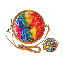 Rainbow Sprinkles Donut Purse
