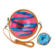 Blue and Pink Donut Purse