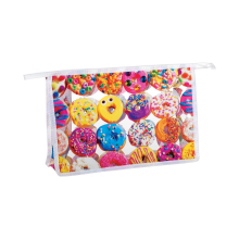 Assorted Donuts Clear Travel Bag