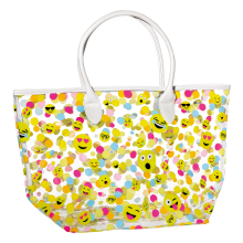 Picture of Confetti Emojis Clear Tote Bag