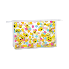 Picture of Confetti Emojis Clear Travel Bag