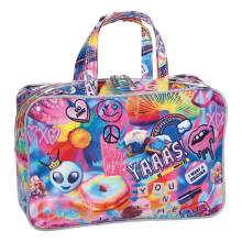 Psychedelic Collage Large Cosmetic Bag