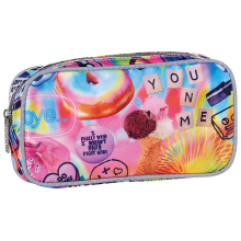 Psychedelic Collage Small Cosmetic Bag