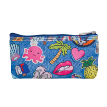 Embroidered Patches Pencil Case