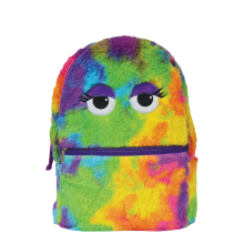 Tie Dye Furry Backpack