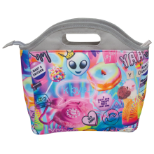 Psychedelic Collage Lunch Tote