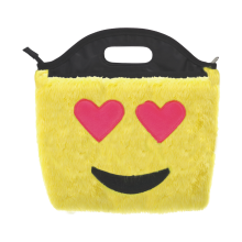 Heart Eyes Emoji Furry Lunch Tote