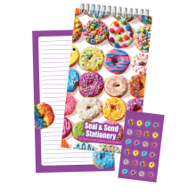 Assorted Donuts Seal & Send Stationery