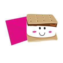 Smiley S'more Scented Notecards